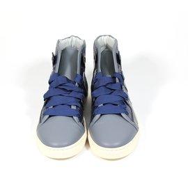 Lanvin-Basket python-Bleu