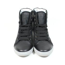 Lanvin-Baskets hautes-Noir
