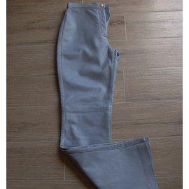 Trussardi Jeans-Pantalon jeans en cuir-Bleu