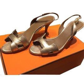 Hermès-Sandales Hermès-Doré