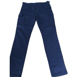 Burberry Brit-Costume slim fit cargo-Bleu