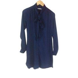 La petite française-Robe chemise-Bleu