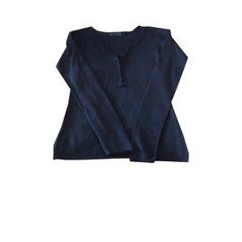 Berenice-Pull en soie-Bleu
