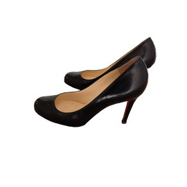 Christian Louboutin-Simple pump 100 kid-Noir
