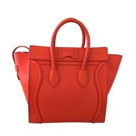 Céline-Handbags-Orange