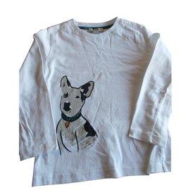 Burberry Brit-T-shirt enfant manches longues-Blanc