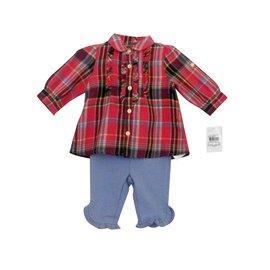 Ralph Lauren-Petit ensemble bébé fille 3 mois-Bleu