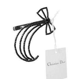 Christian Dior-Barrette-Noir,Argenté