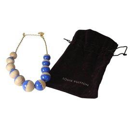 Louis Vuitton-Collier boules-Bleu