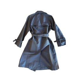 Hermès-Manteau trench-Gris