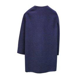 Céline-Coats, Outerwear-Blue