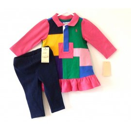 Polo Ralph Lauren-Ensemble bébé-Multicolore
