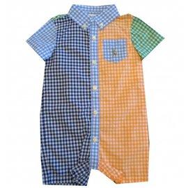 Ralph Lauren-Combi short bébé-Multicolore