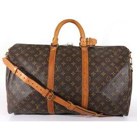 Louis Vuitton-Keepall 50 bandouliere-Marron