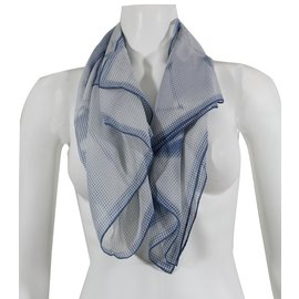 Céline-Scarves-White,Blue
