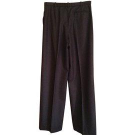 Hermès-Pants, leggings-Chestnut