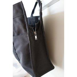 Hermès-Sac fourre tout TOTO GM  gris/taupe noir-Gris