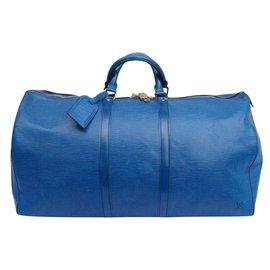 Louis Vuitton-Keepall 55-Bleu