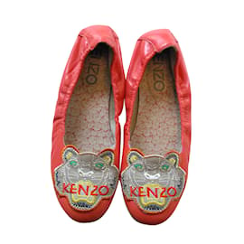Kenzo-Ballet flats-Red