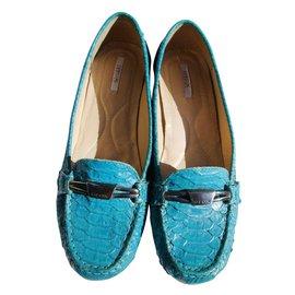 Geox-Flats-Blue