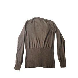 Hermès-Cardigan V-Marron clair