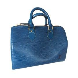 Louis Vuitton-SPEEDY 25-Bleu