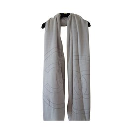 Chanel-Scarves-Cream