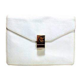 Céline-Clutch bags-White