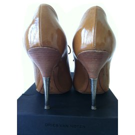 Dries Van Noten-Heels QU421 in camel-Autre