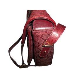 Céline-Handbags-Dark red