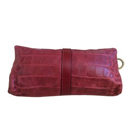 Burberry-Clutch bags-Dark red