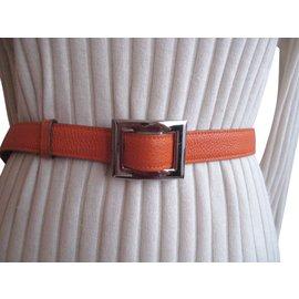 Hermès-ceinture mixte-Orange