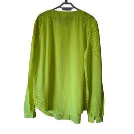 Bel Air-Blouse/chemise en soie-Jaune