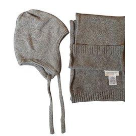 Eric Bompard-Chapeaux, bonnets, gants-Gris