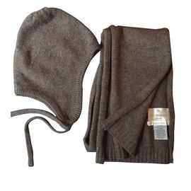 Eric Bompard-Chapeaux, bonnets, gants-taupe