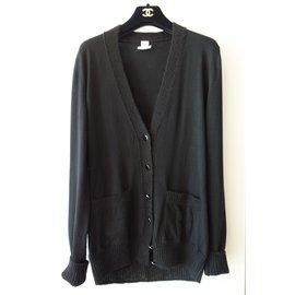 Hermès-gilet loose fit-Noir