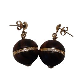 Louis Vuitton-Boucles d'oreilles-Marron