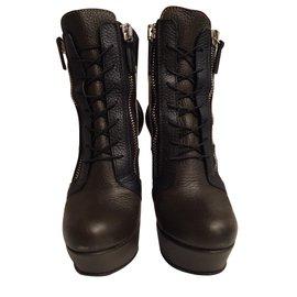 Gianmarco Lorenzi-Ankle Boots-Khaki