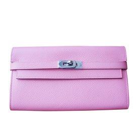 Hermès-Kelly wallet hermes-Rose