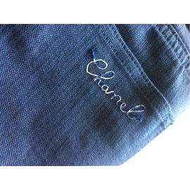 Chanel-Pantalons jeans-Bleu