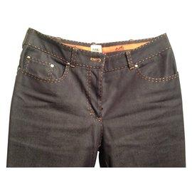 Hermès-Pants, leggings-Purple