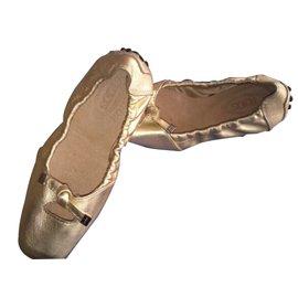 Tod's-Ballet flats-Golden