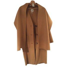 Hermès-manteau-Marron