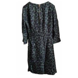 Louis Vuitton-Robe ajustée imprimé Léopard par Stephen Sprouse-Vert
