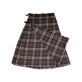 Burberry-Skirts-Khaki