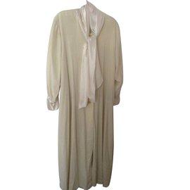 Christian Dior-Robe de chambre-Blanc