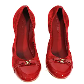 Louis Vuitton-Ballerines framboise-Rouge