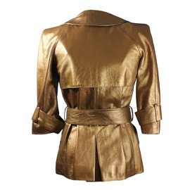 Louis Vuitton-Mini trench coat cuir-Bronze
