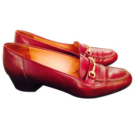Céline-Flats-Dark red