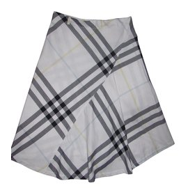 Burberry-Skirts-White